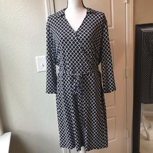 Brooks Brothers Faux Wrap Dress Size XL